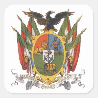 Transvaal Wapen Square Sticker