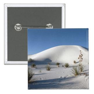 Transverse Dunes and Soaptree Yucca Pinback Button
