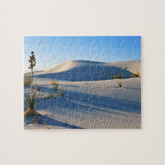 Transverse Dunes, Yucca, Early Morning Light Jigsaw Puzzle