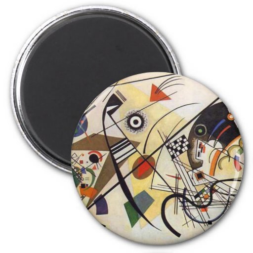 Transverse Line 2 Inch Round Magnet
