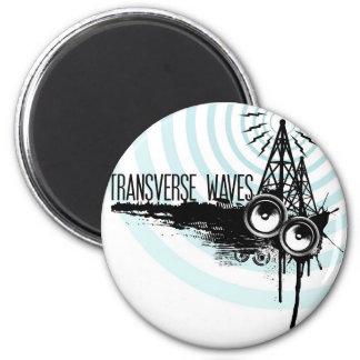 Transverse Waves Logo 2 Inch Round Magnet