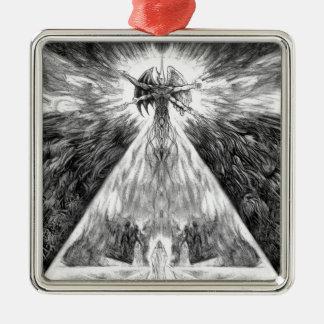 Transversion Of Worlds Metal Ornament