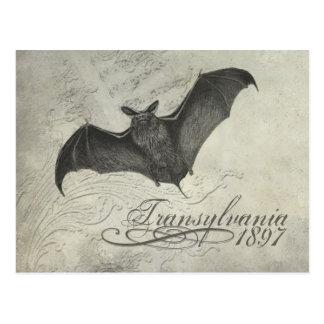 Transylvania 1897 Bat Collage Post Card Halloween