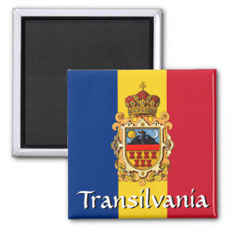 Transylvania Coat of Arms 2 Inch Square Magnet