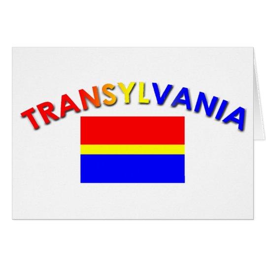 Transylvania Flag Design 2 (w/inscription) Card