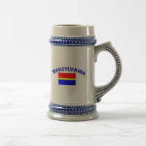 Transylvania Flag (w/inscription) Beer Stein