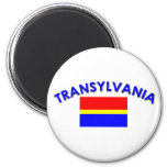 Transylvania Flag (w/inscription) Refrigerator Magnet