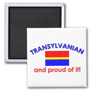 Transylvanian orgulloso imán cuadrado