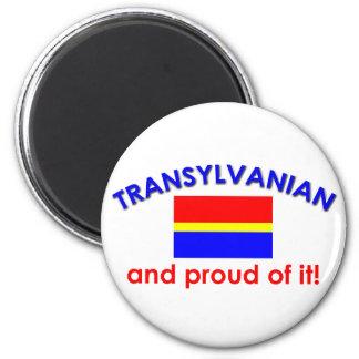 Transylvanian orgulloso imán redondo 5 cm