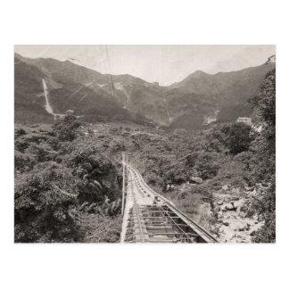 Tranvía 1880 funicular de Hong Kong Postal