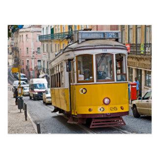 Tranvía clásica en Lisboa, Portugal Postal