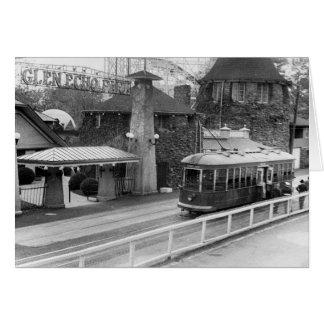 Tranvía de Juan de la cabina, los años 30 Tarjeta De Felicitación