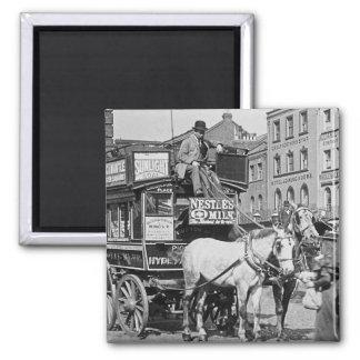 Tranvía de la calle de reyes Cross Londres de la d Imán Cuadrado