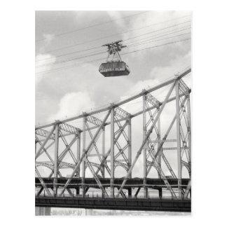 Tranvía de la isla de Roosevelt, NYC, foto análoga Postales