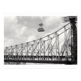 Tranvía de la isla de Roosevelt, NYC, foto análoga Tarjeta Postal