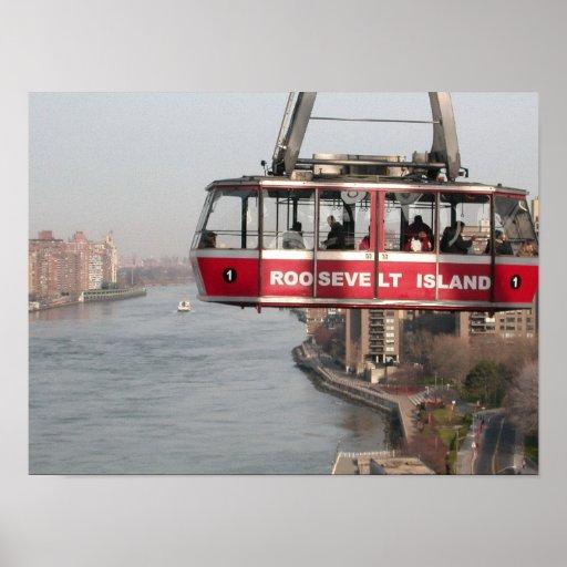 Tranvía de la isla de Roosevelt sobre East River N Impresiones