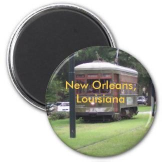 Tranvía de New Orleans Imán Redondo 5 Cm