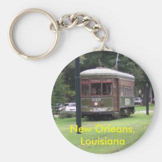Tranvía de New Orleans Llavero Redondo Tipo Pin