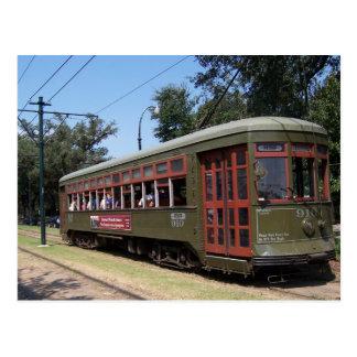 Tranvía de New Orleans Luisiana Postal
