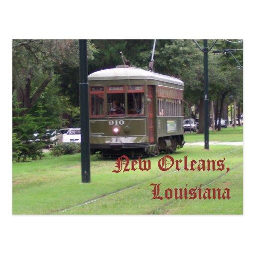 Tranvía de New Orleans, Luisiana Tarjetas Postales
