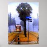 Tranvía del canal, mañana de niebla