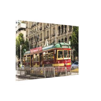 Tranvía del círculo de la ciudad impresiones de lienzo