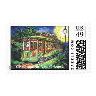 Tranvía del navidad de New Orleans Sello Postal
