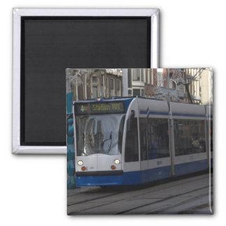 Tranvía en Amsterdam Imán Cuadrado