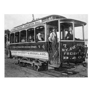 Tranvía en C.C. de Washington, 1890 Postales