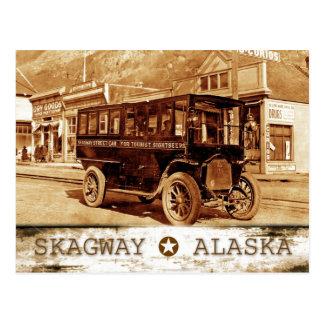 Tranvía en la avenida de Broadway., Skagway, Postales