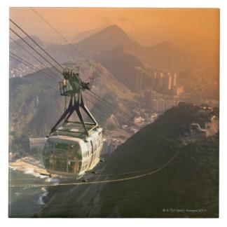 Tranvía en Río de Janeiro, el Brasil Azulejo Cuadrado Grande