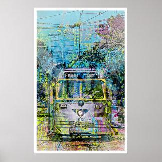 Tranvía mágico del vintage de St San Francisco del Póster