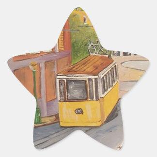 Tranvía Pegatina En Forma De Estrella