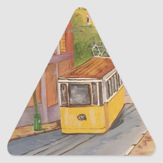 Tranvía Pegatina Triangular