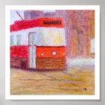 Tranvía, poster/impresión en el papel o lona póster