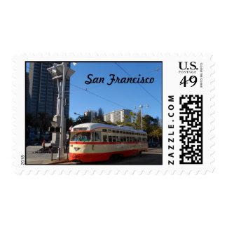 Tranvía San Francisco Sello Postal