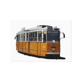 Tranvía vieja en Budapest Impresión En Lona Estirada