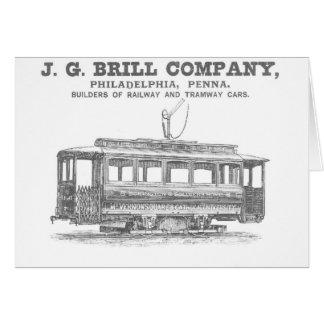Tranvías de Brill Company y coches 1860 del Tarjeta Pequeña