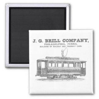 Tranvías de Brill Company y coches 1860 del tranví Imán De Nevera