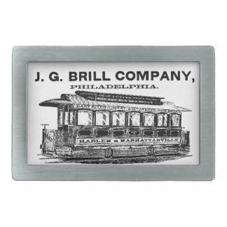 Tranvías de Brill Company y hebillas del cinturón Hebillas Cinturon Rectangulares