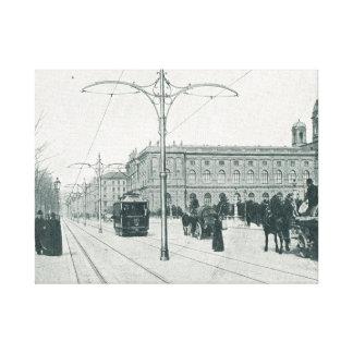 Tranvías y archs de Viena Lastenstrasse Lona Envuelta Para Galerías
