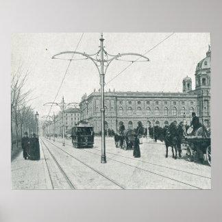 Tranvías y archs de Viena Lastenstrasse Posters