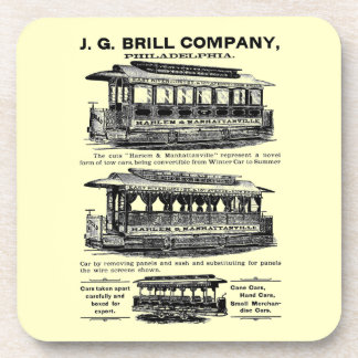 Tranvías y carretilla de Brill Company Posavasos De Bebida