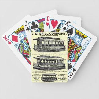 Tranvías y carretillas de Brill Company Cartas De Juego