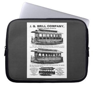 Tranvías y carretillas de Brill Company Funda Computadora
