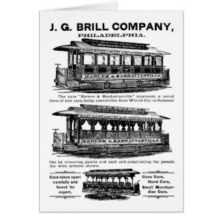 Tranvías y carretillas de Brill Company Tarjeta Pequeña