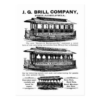 Tranvías y carretillas de Brill Company Tarjeta Postal