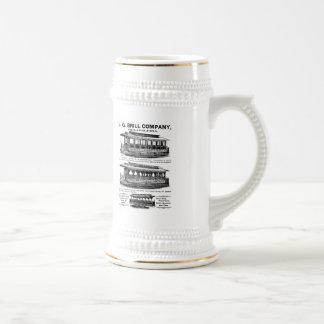 Tranvías y carretillas de Brill Company Tazas De Café