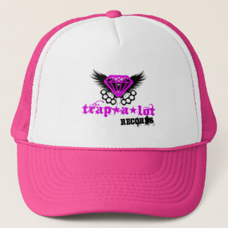 trap a lot records hat logo pink