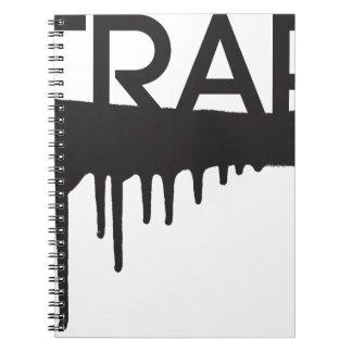 trap dripping graffiti notebook